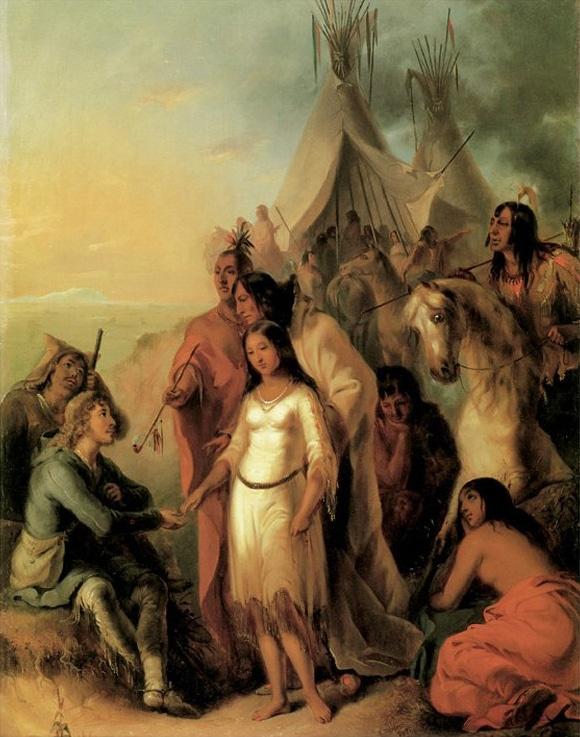 Voyageur canadien et son épouse amérindienne